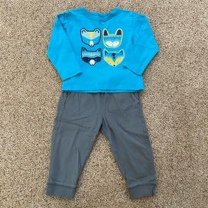 Tea collection pant & shirt - size 12-18 months